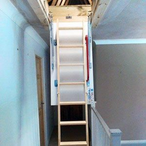 wooden-loft-ladder-open